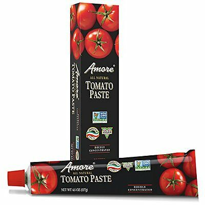 Amore Tomato Paste  4.5 Ounce Tubes (Pack of 12)