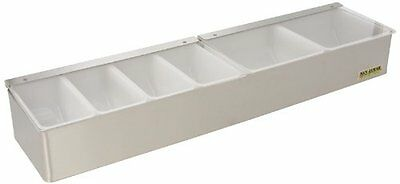 San Jamar B4246L Stainless Steel Non-Chilled Garnish Tray with Split Lid, 2