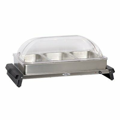 BroilKing NBS-3RT Professional Triple Buffet Server with Rolltop Lids