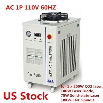 US Stock - CW-5300DI Industrial Water Chiller AC 1P 110V 60HZ Water Chiller