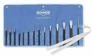 Mayhew Pro 61044 Punch and Chisel Kit,  14-Piece