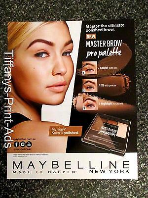GIGI HADID 1 x  Page Magazine CLIPPINGS Maybelline Makeup AD Photo
