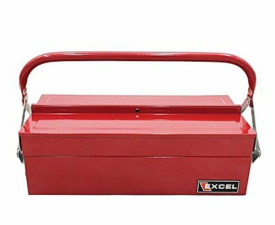 Excel TB126-Red 14-Inch Cantilever Steel Tool Box, Red