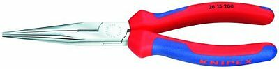 Knipex 2615200 8-Inch Long Nose Pliers with Cutter - Comfort Grip