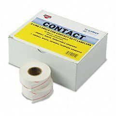Garvey Two-Line Pricemarker Labels, 5/8 x 13/16 Inches, White, 1000/Roll, 1