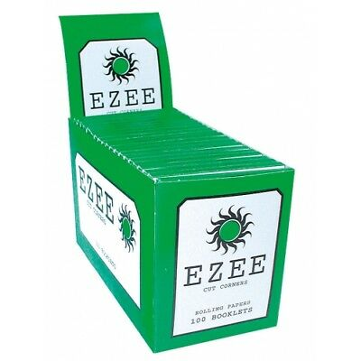 100 Ezee Green Cigarette Rolling Papers Booklets-Full Box-100x50