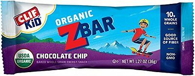 CLIF KID ZBAR - Organic Energy Bar - Organic Chocolate Chip - (1.2 oz, 18 C
