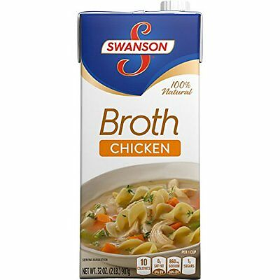 Swanson Chicken Broth  32 Ounce Cartons (Pack of 12)