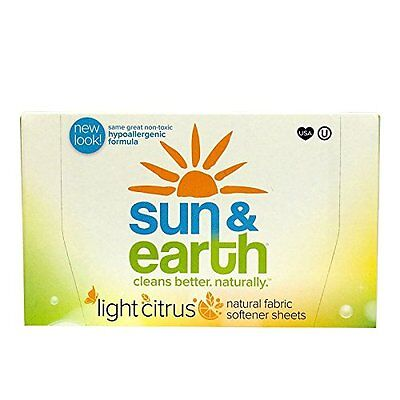 Sun & Earth Fabric Softener Sheets Citrus 80-Count Boxes (Pack of 6)