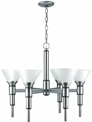 Lite Source LS-17026 Pillar 6-Lite Ceiling Lamp, Satin Steel