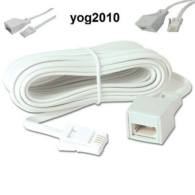 5 Meter BT Landline Telephone Extension Cable Lead Wire Cord Phone Fax Modem