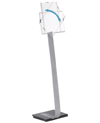 DURABLE Infobase Duo Aluminum Floor Sign Stand for Letter-Si