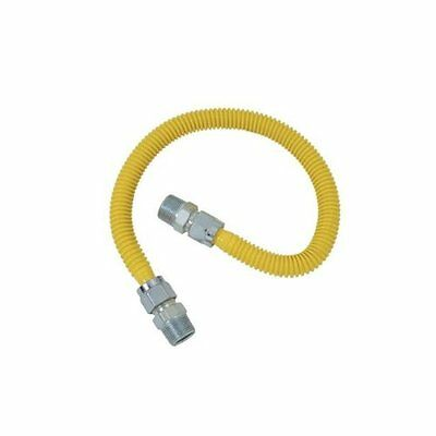 BrassCraft CSSD44-24 ProCoated Stainless Steel Gas Connector