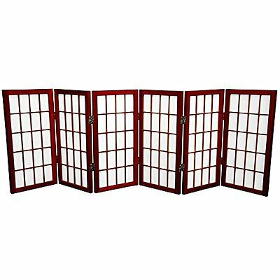 Oriental Furniture 2 ft. Tall Desktop Window Pane Shoji Scre