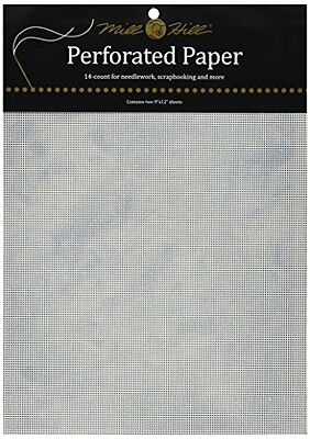 """Stylized Perforated Paper 14 Count 9""""X12"""" 2/Pkg-Blue Sky Light"""
