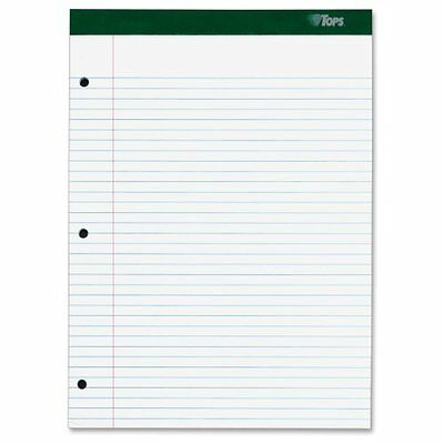 TOPS Double Docket Writing Pad, College Rule, Letter Size, White, 100 Sheet