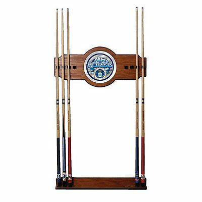 Air Force Two-Piece Wood And Mirror Wall Cue Rack