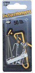 CRL 50 Pound Carded Picture Hangers - Carton (30 hangers)