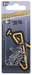 CRL 30 Pound Carded Picture Hangers - Carton (60 hangers)