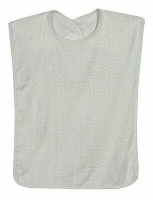 DMI Patient Clothing Protector Terry Cloth Adult Bib with Ho