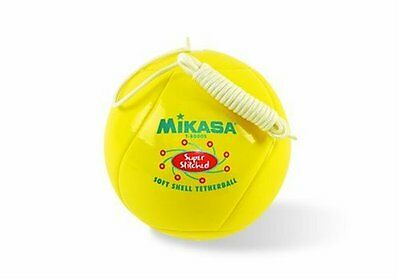 Mikasa Super Soft Shell Tetherball, Stitched, With Rope (Yellow)