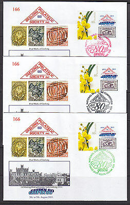 Souvenir Cover: 2011 Geelong Philatelic Society Set Of 3  Limited Edition