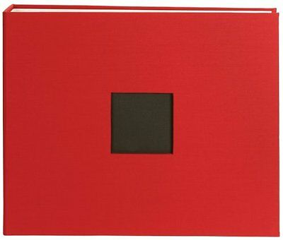 American Crafts Cloth D-Ring Album 12x12-Cardinal
