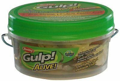 Berkley GAPSH3PC2-AST1 Gulp Alive Shrimp and Peeler Crab Bait, Assorted, 3-