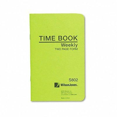 Wilson Jones Foreman's Pocket Size Employee Time Book, 4.13 x 6.75 Inches,