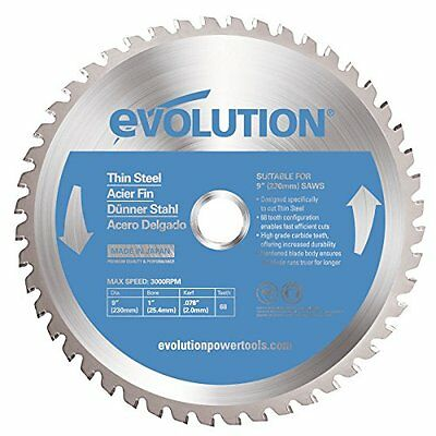 Evolution Power Tools 230BLADETS Thin Steel Cutting Blade, 9