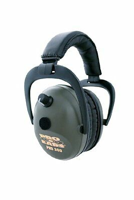 Pro Ears 300 Electronic Hearing Protection and Amplification Ear Muffs, Green