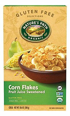 Nature's Path Organic Corn Flakes  Fruit Juice Sweetened Cereal  10.6-Ounce