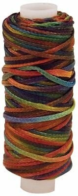 Tandy Leather Factory Waxed Metallic Look Braided Cord with 25-Yard Spool