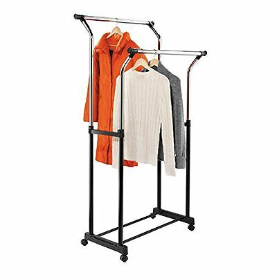 Honey-Can-Do GAR-01119 Adjustable Height Clothing Rack, with