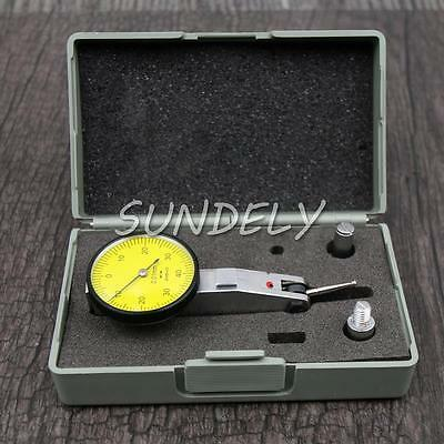 Lever Indicator Dial Test Precision Metric Measuring Tool with Dovetail Rails