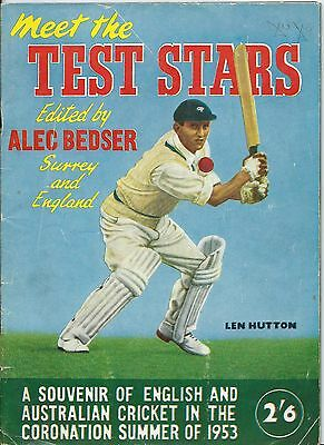 """Cricket, """"meet The Test Stars"""", Illustrated Large Format Soft Back Book, 1953"""