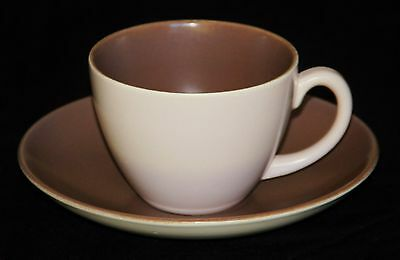 Poole Pottery Coffee Duo, Twintone C54, Classic Colours, Excellent Condition