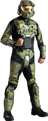 Halo 3 Deluxe Master Chief Costume With Helmet, X-Small