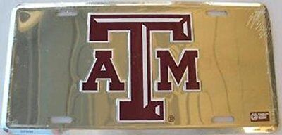 Texas A & M University Collegiate Chrome Embossed Aluminum A