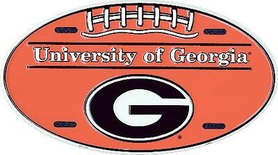 (6x12) University of Georgia Bulldogs Football Oval NCAA Tin License Plate