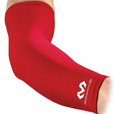 McDavid Compression Arm Sleeve, Scarlet, Large