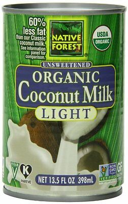 Native Forest Organic Light Coconut Milk  Reduced Fat  13.5-Ounce Cans (Pac