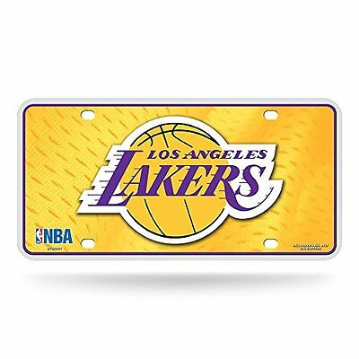 NBA Los Angeles Lakers Metal Auto Tag