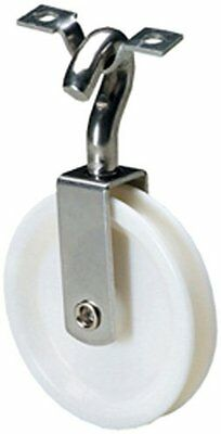 Attwood Corporation 2906-3 Steering Line Pulley with Strap Swivel