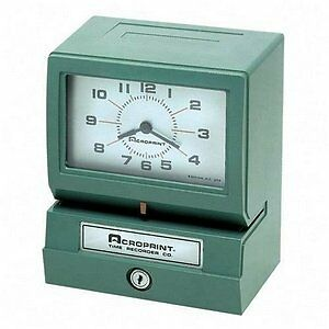 Electric Print Time Recorder,Records Day Of Wk/Hour/Minutes