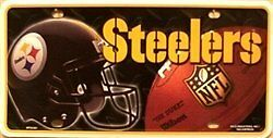 Pittsburgh Steelers NFL Embossed Aluminum Automotive Novelty