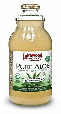 Lakewood Organic PURE Aloe Juice  32-Ounce Bottles (Pack of 6)