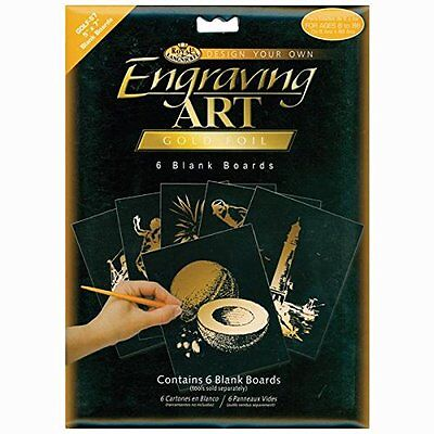 Royal Brush Foil Engraving Art Blank Boards, 5 by 7-Inch, Go
