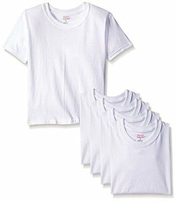 Hanes - Toddler Boys 5 Pack Crewneck T-Shirts, White, TB2145 (Size 2/3)