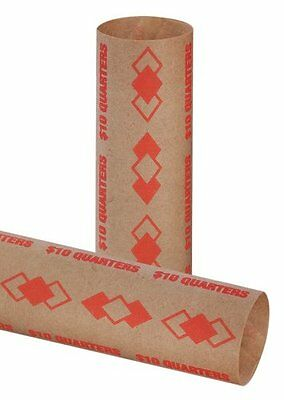 PM Company SecurIT $10.00/Quarter Pre-Crimped Tubular Coin Wrappers, 3.25 I